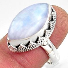 9.13cts natural rainbow moonstone 925 silver solitaire ring jewelry size 8 r9998