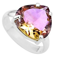 925 sterling silver 8.60cts solitaire natural purple ametrine ring size 8 t24250