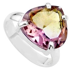 925 sterling silver 7.62cts solitaire natural purple ametrine ring size 7 t24258
