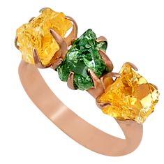 8.26cts natural green apatite (madagascar) 14k rose gold ring size 8 t34994
