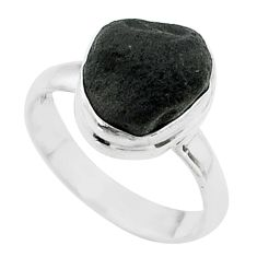 5.10cts solitaire natural cintamani saffordite 925 silver ring size 7 t58028