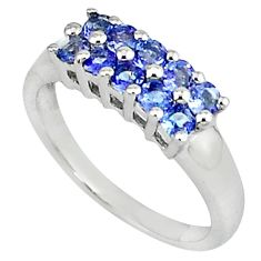 3.29cts vintage natural blue tanzanite 925 silver ring jewelry size 7.5 v1890