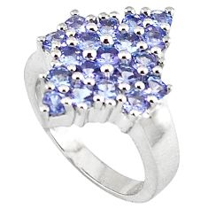 4.47cts vintage natural blue tanzanite 925 silver ring jewelry size 7 v1941