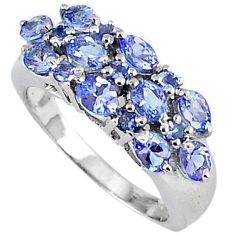 2.57cts vintage natural blue tanzanite 925 silver ring jewelry size 7.5 v1943