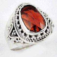 AAA RICH NATURAL RED RHODOLITE GEMSTONE 925 STERLING SILVER RING SIZE 7.5 H43575