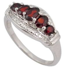 AWESOME NATURAL RED RHODOLITE 925 STERLING SILVER RING JEWELRY SIZE 7.5 H13251