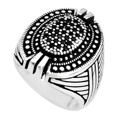 2.54cts black topaz 925 sterling silver mens ring jewelry size 9 c1004