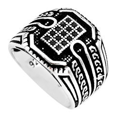 0.96cts black topaz 925 sterling silver mens ring jewelry size 8.5 c1025