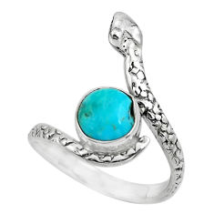 3.01cts blue arizona mohave turquoise 925 silver solitaire ring size 8.5 p62952