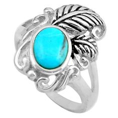 2.07cts blue arizona mohave turquoise 925 sterling silver ring size 8 c4817