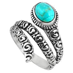 2.35cts blue sleeping beauty turquoise 925 silver solitaire ring size 8.5 p92074