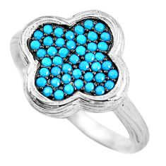 1.48cts blue sleeping beauty turquoise 925 sterling silver ring size 6 c2720