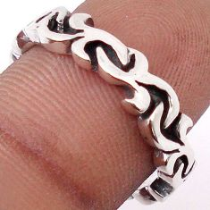 CHARMING FILIGREE SWIRLS ALL AROUND BAND 925 SILVER RING (THAILAND) SIZE 7 H9505