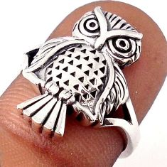 4.86gms EXCLUSIVE 925 STERLING SILVER OWL RING JEWELRY SIZE 6.5 H9515