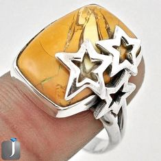 EXOTIC BROWN MATRIX OPAL 925 STERLING SILVER SPARKLING STAR RING SIZE 8.5 F51111
