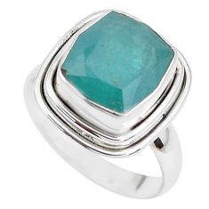 5.75cts faceted natural grandidirite 925 silver solitaire ring size 7 p41710