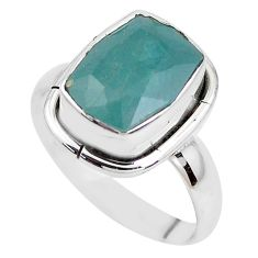 5.87cts faceted natural grandidirite 925 silver solitaire ring size 8 p41711