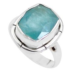 5.38cts faceted natural grandidirite 925 silver solitaire ring size 8 p41714