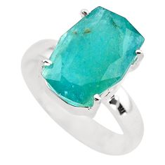 6.72cts faceted natural grandidirite 925 silver solitaire ring size 7 p54247