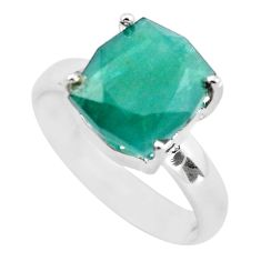 4.67cts faceted natural grandidirite 925 silver solitaire ring size 7 p54250
