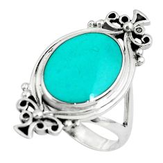 5.89gms fine blue turquoise enamel 925 sterling silver ring size 6.5 c1564