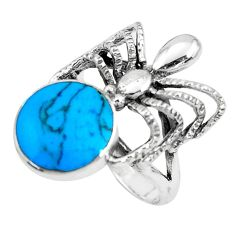 5.26gms fine blue turquoise enamel 925 sterling silver ring size 6.5 c1576