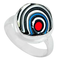 5.45cts fordite detroit agate 925 silver solitaire ring jewelry size 5 p69203
