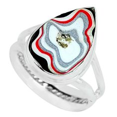 7.04cts fordite detroit agate 925 silver solitaire ring jewelry size 8 p69209