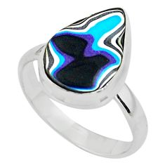 9.16cts fordite detroit agate 925 silver solitaire ring jewelry size 10 p79036