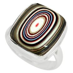 9.61cts fordite detroit agate 925 silver solitaire ring jewelry size 7 p79221