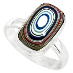 5.81cts fordite detroit agate 925 silver solitaire ring jewelry size 7.5 p79250