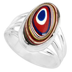 6.10cts fordite detroit agate 925 silver solitaire ring jewelry size 6 p79251