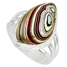 10.78cts fordite detroit agate 925 silver solitaire ring jewelry size 8 p79260