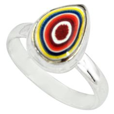 4.84cts fordite detroit agate 925 silver solitaire ring jewelry size 8.5 p79262