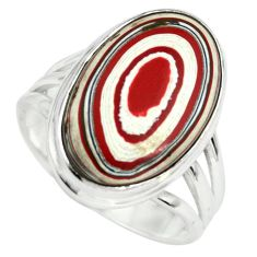 13.15cts fordite detroit agate 925 silver solitaire ring jewelry size 8 p79265