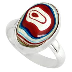 6.39cts fordite detroit agate 925 silver solitaire ring jewelry size 7 p79286