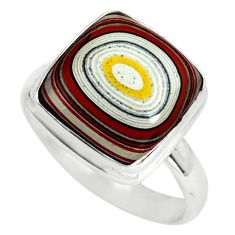 8.44cts fordite detroit agate 925 silver solitaire ring jewelry size 8.5 p79290