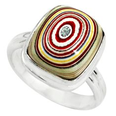 5.53cts fordite detroit agate 925 silver solitaire ring jewelry size 6.5 p79294
