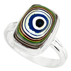 6.26cts fordite detroit agate 925 silver solitaire ring jewelry size 8.5 p79298