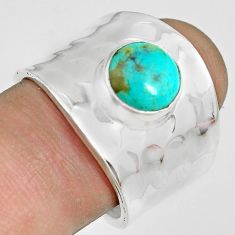 3.01cts green arizona mohave turquoise 925 silver solitaire ring size 8.5 p70105
