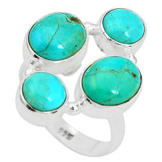 10.64cts green arizona mohave turquoise 925 sterling silver ring size 8 p32822