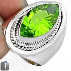 8.42cts GREEN PARROT QUARTZ 925 STERLING SILVER RING JEWELRY SIZE 8 F14839