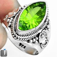 7.53cts GREEN PARROT QUARTZ 925 STERLING SILVER RING JEWELRY SIZE 7 F18829