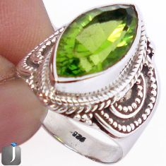 8.91cts GREEN PARROT QUARTZ 925 STERLING SILVER RING JEWELRY SIZE 9 F22106