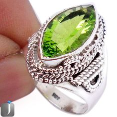 9.79cts GREEN PARROT QUARTZ 925 STERLING SILVER RING JEWELRY SIZE 8.5 F26106
