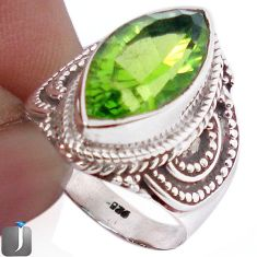 9.72cts GREEN PARROT QUARTZ 925 STERLING SILVER RING JEWELRY SIZE 7.5 F26107