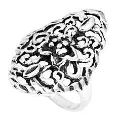 4.89gms indonesian bali style solid 925 plain silver ring size 6.5 c3579