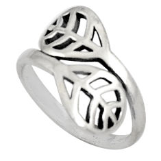 3.69gms indonesian bali style solid 925 silver adjustable ring size 8.5 c5226