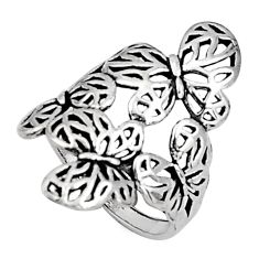 4.48gms indonesian bali style solid 925 silver butterfly ring size 7.5 c5229
