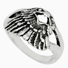 4.47gms indonesian bali style solid 925 silver eagle charm ring size 6.5 c5250